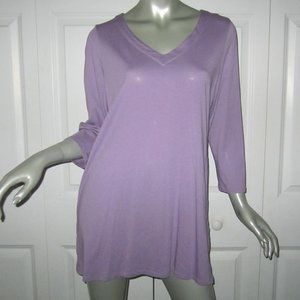J. JILL Lavender Tunic Top With Buttoned Sides